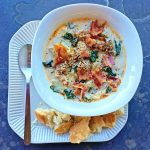 Try this warming, creamy version of Slow Cooker Zuppa Toscana soup!
