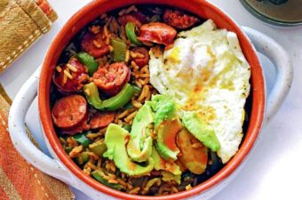 Breakfast Jambalaya, in all its glory. Make it at home and switch up your boring A.M. routine!