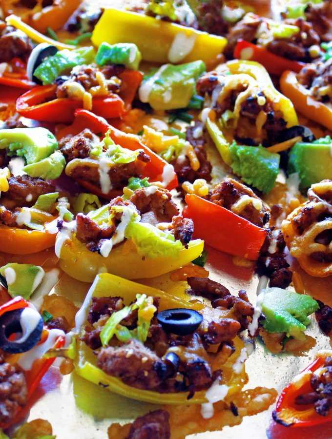 Nachos without Chips: Bell Pepper Nachos