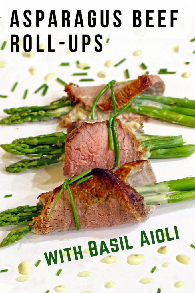 Beef Rollups with Asparagus and Basil Aioli
