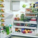 Healthy Fridge Essentials, displayed in one very organized refrigerator, I must say!