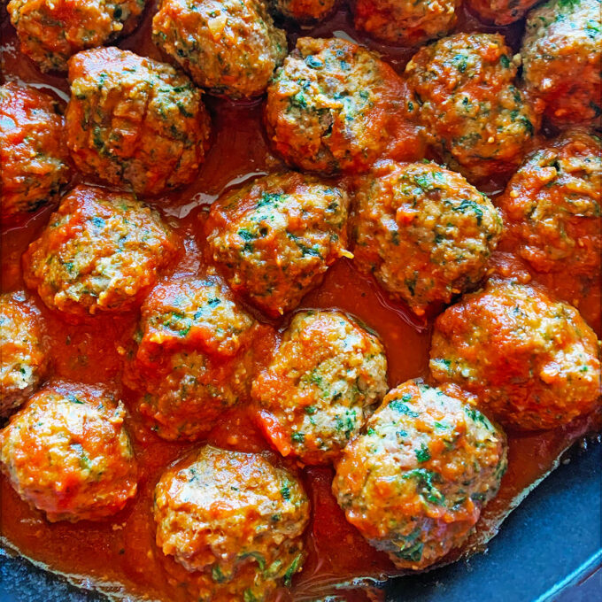 These kid-friendly meatballs include hidden veggies! Your kids will never know!